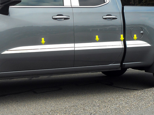 Stainless Steel Chrome Side Trim 8Pc for 2019-2020 Chevrolet Silverado AT59175
