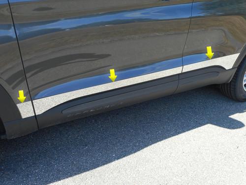 Stainless Steel Chrome Rocker Panel Trim 6Pc for 2020 Ford Explorer TH60330