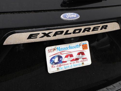 Stainless Steel Chrome Rear License Trim 5Pc for 2020 Ford Explorer LB60330