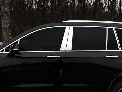 Stainless Steel Chrome Pillar Trim 14Pc for 2020-2021 Cadillac XT6 PP60215