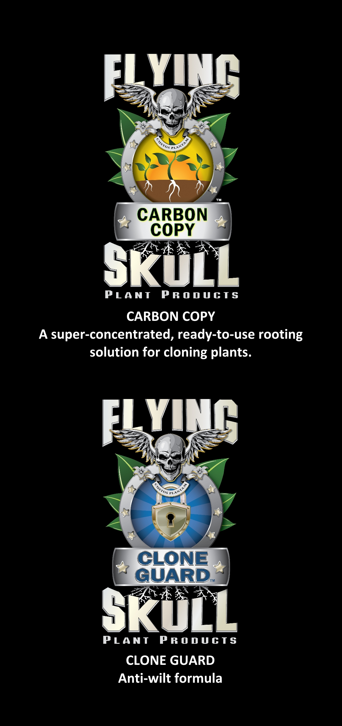 Flying Skull Clone Guard & Carbon Copy Flyer Front