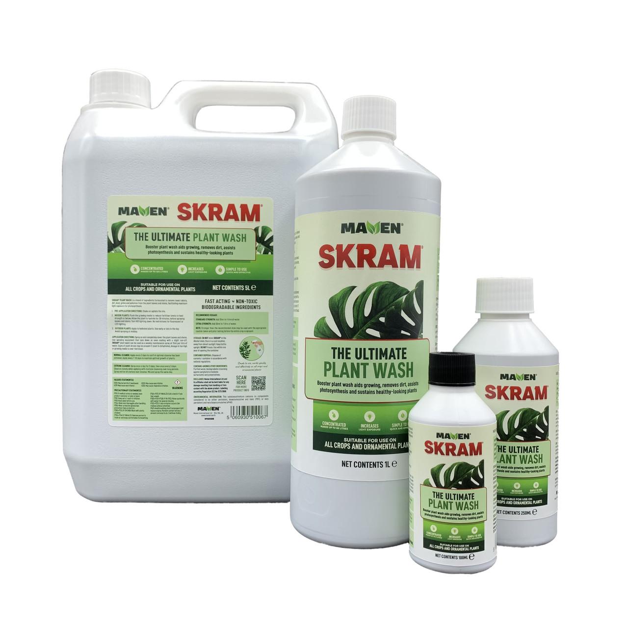 SKRAM Ultimate Plant Wash Range 100ml, 250ml, 1 litre and 5 litres