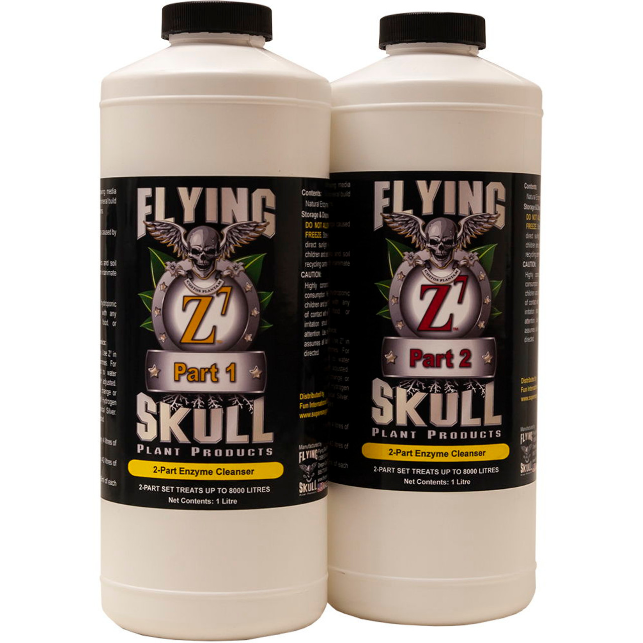 Flying SKull Z7 Enzyme Cleanser 1 litre Bottles Set