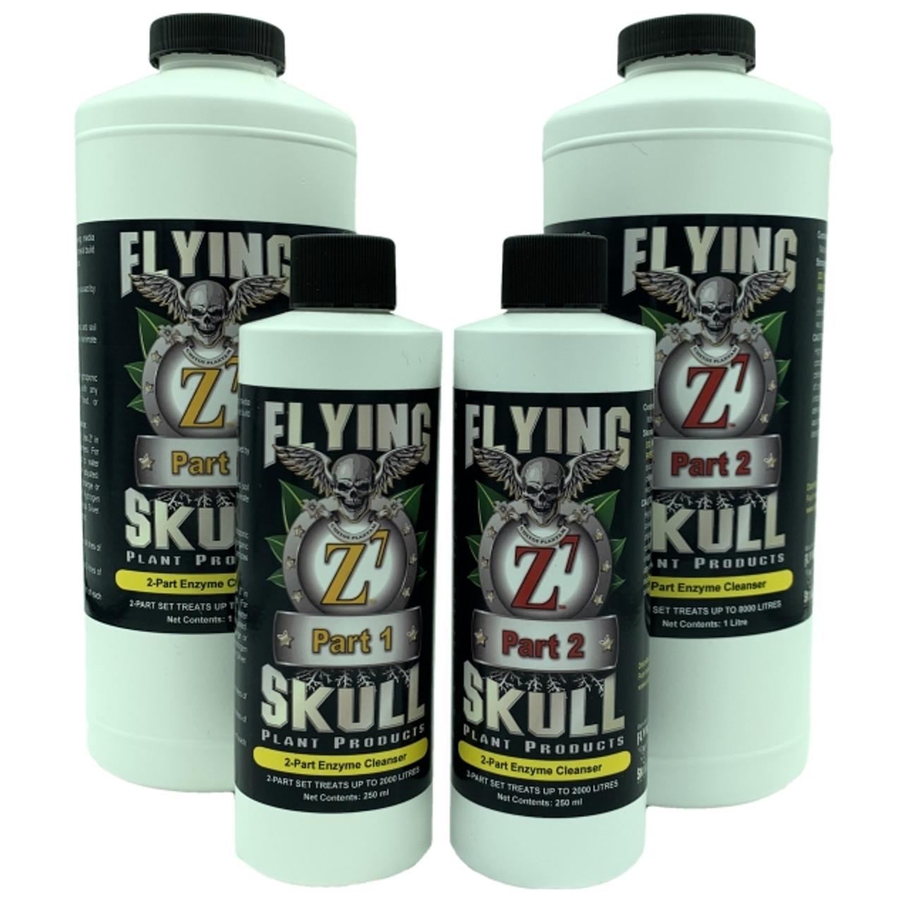Flying Skull Z7 250ml and 1 litre Bottles
