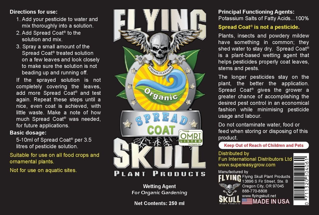 Flying Skull Spread Coat 250ml Bottle Label