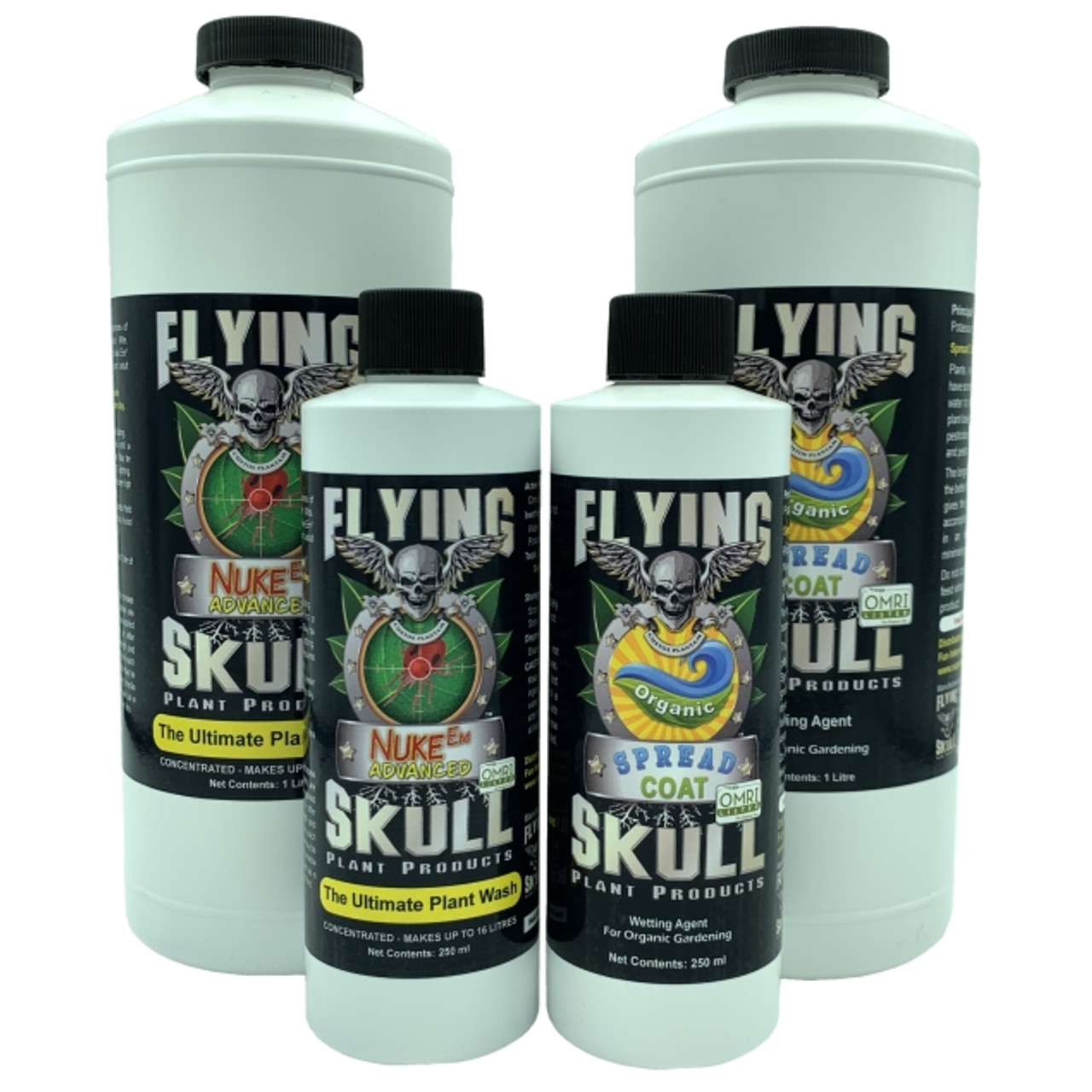 Flying Skull Nuke Em Advanced and Spread Coat Products