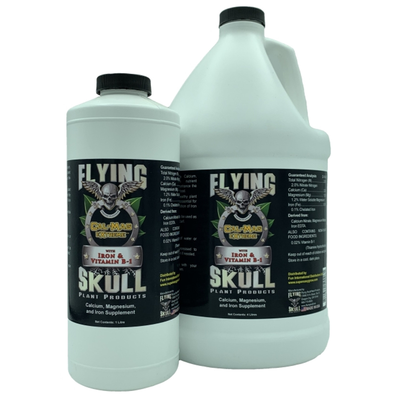 Flying Skull Cal-Mag eXtreme Bottles - 1 litre and 4 litres
