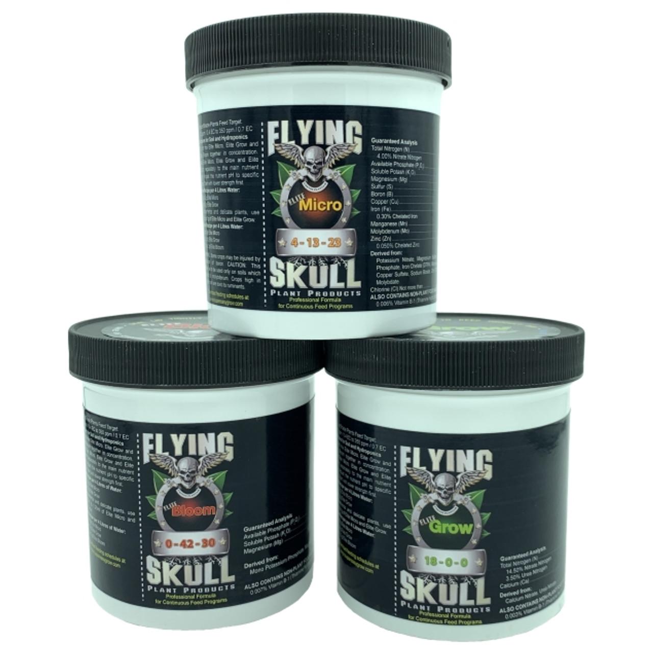 Flying Skull Elite Plant Food Range - Elite Micro, Elite Grow, Elite Bloom