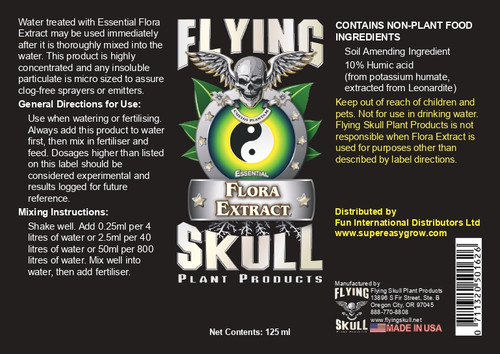 Flying Skull Essential Flora Extract EU 125ml Label