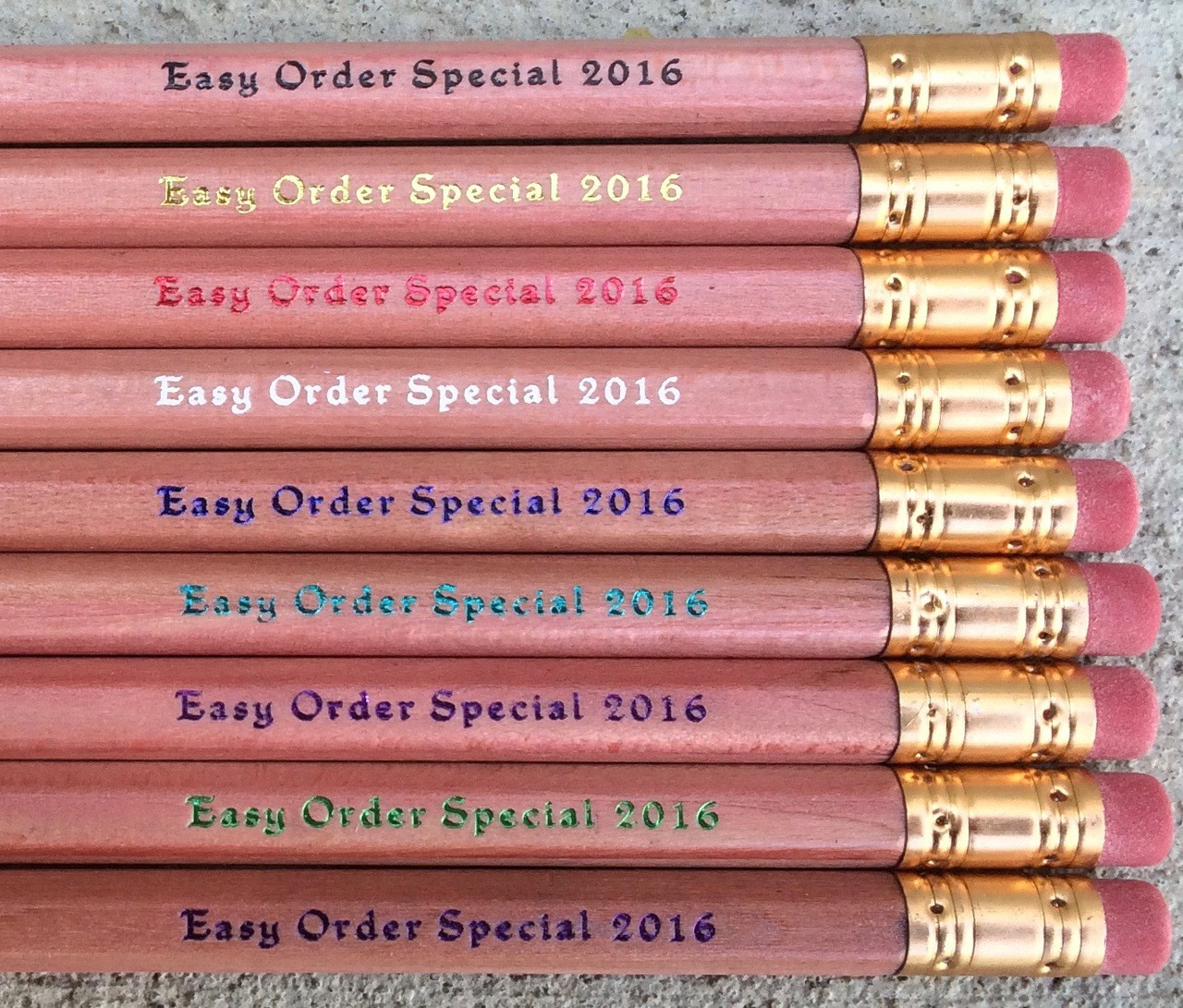 Personalized Easy Order Pencil Special