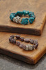 Raw Turquoise Stacking Statement Bracelet