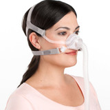 Women wearing ResMed AirFit N10 For Her Nasal Mask with Headgear