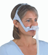 Woman wearing a ResMed Swift LT For Her Nasal Mask