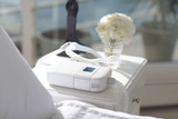 Philips Respironics DreamStation Go Auto CPAP on bedside table