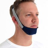 Man wearing the ResMed Chin Strap
