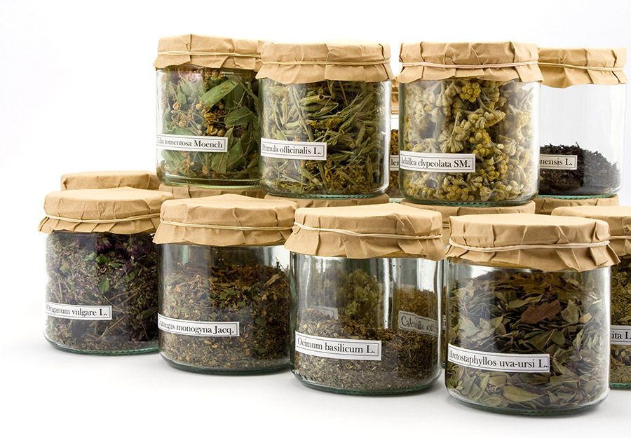 Herbs in a jar speaking to the importance of consumer consciousness in eating right and caring about yourself and others.