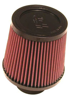 K&N Filter Universal Clamp-On Filter-Round Tapered 2.75in Flange ID x 6in Base OD x 5in Top OD