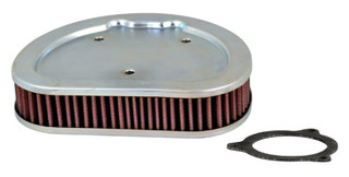 K&N Replacement Air Filter 1.625in H x 7.5in L for Harley Davidson