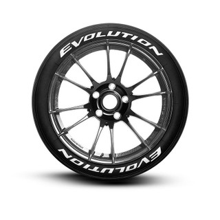 Evolution Tire Lettering