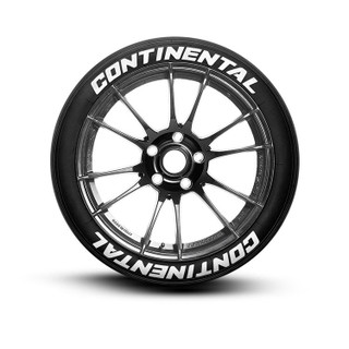 Continental Tire Lettering Tire Stickers