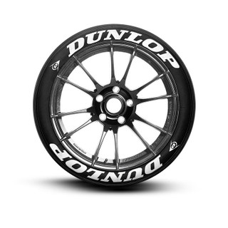 Dunlop Tire Lettering Tire Stickers