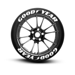 Goodyear Tire Lettering Tire Stickers