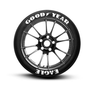 Goodyear Eagle Stencil Tire Lettering Tire Stickers