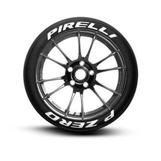Pirelli PZero Spelled Out Tire Lettering