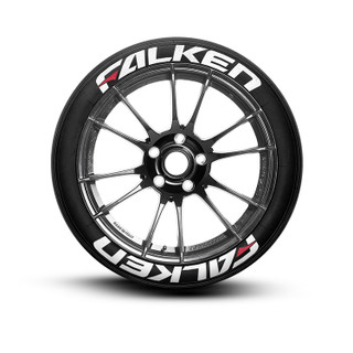 Falken With Red Dash Tire Lettering Tire Stickers