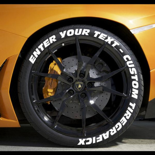 Create Your Own Tire Lettering | Performance Tire Decals ...