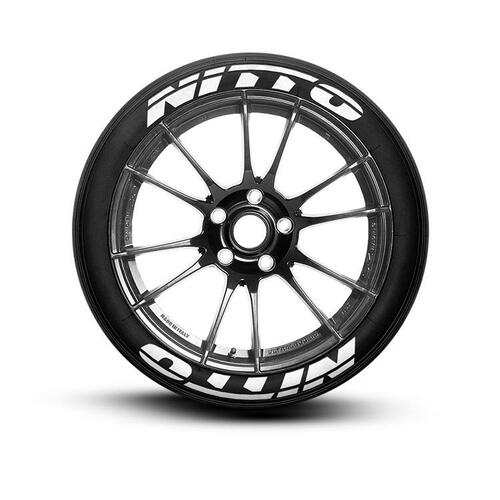 Nitto Tires With White Lettering >> Nitto Tire Lettering Set Of 8 Tire Decals