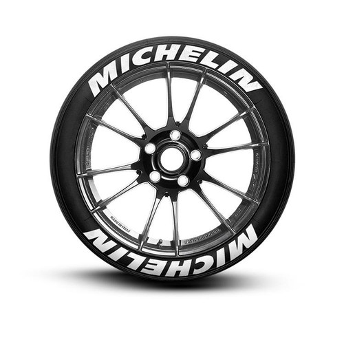 michelin tire lettering set of 8 tire decals
