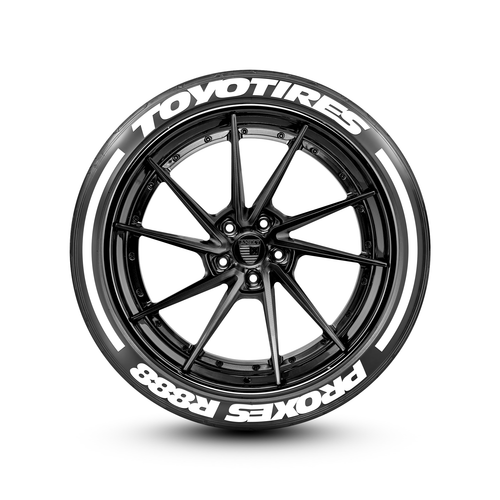 Toyo Proxes R888 >> Toyotires R888 With Racing Stripes Tire Lettering Set Of 8 Tire Decals