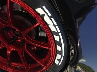 nitto tire lettering set of 8 tire decals