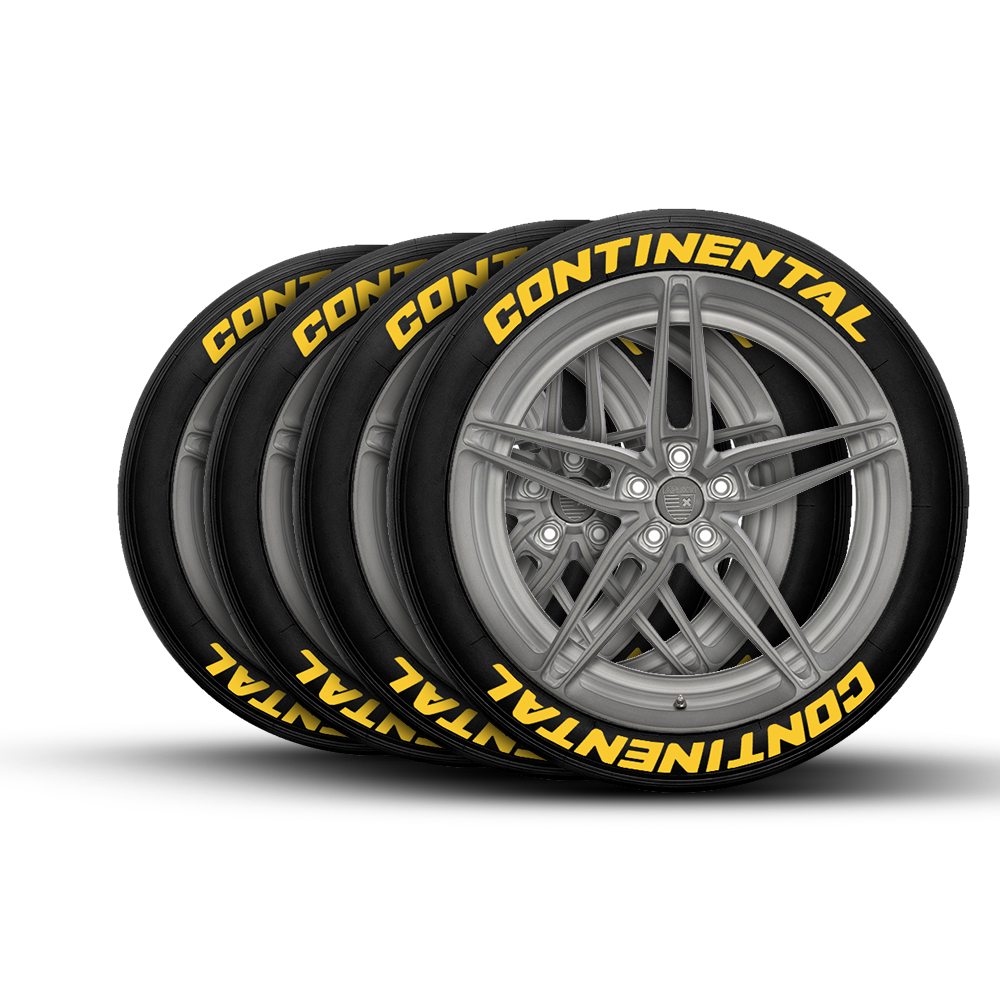 Continental Tire Stickers >> Continental Tire Lettering Set Of 8 Tire Decals