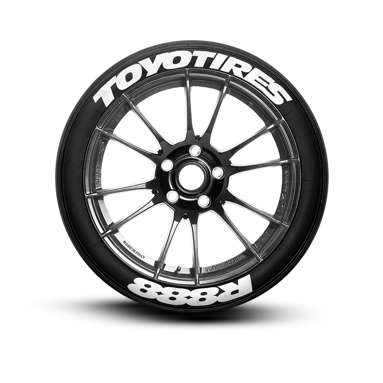 Toyo Proxes R888 >> Toyotires R888 Tire Lettering Set Of 8 Tire Decals