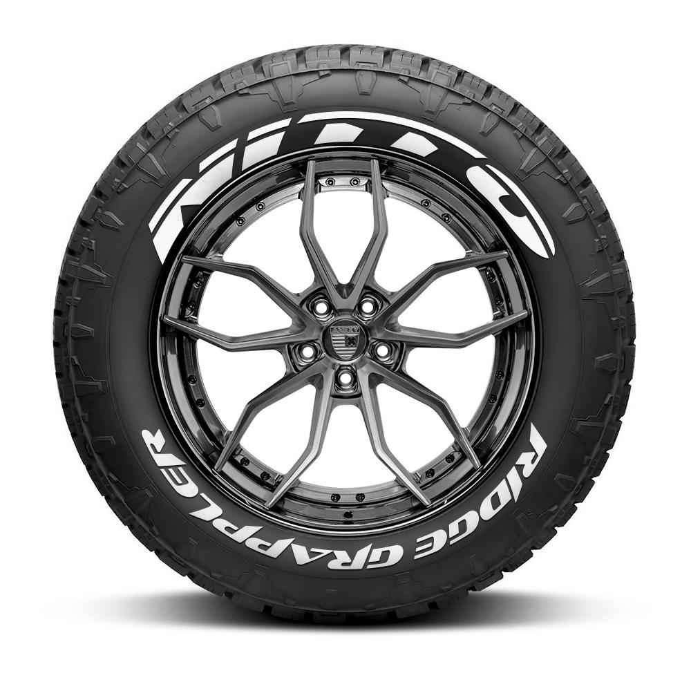 Nitto Tires With White Lettering >> Nitto Ridge Grappler Tire Lettering Set Of 8 Tire Decals