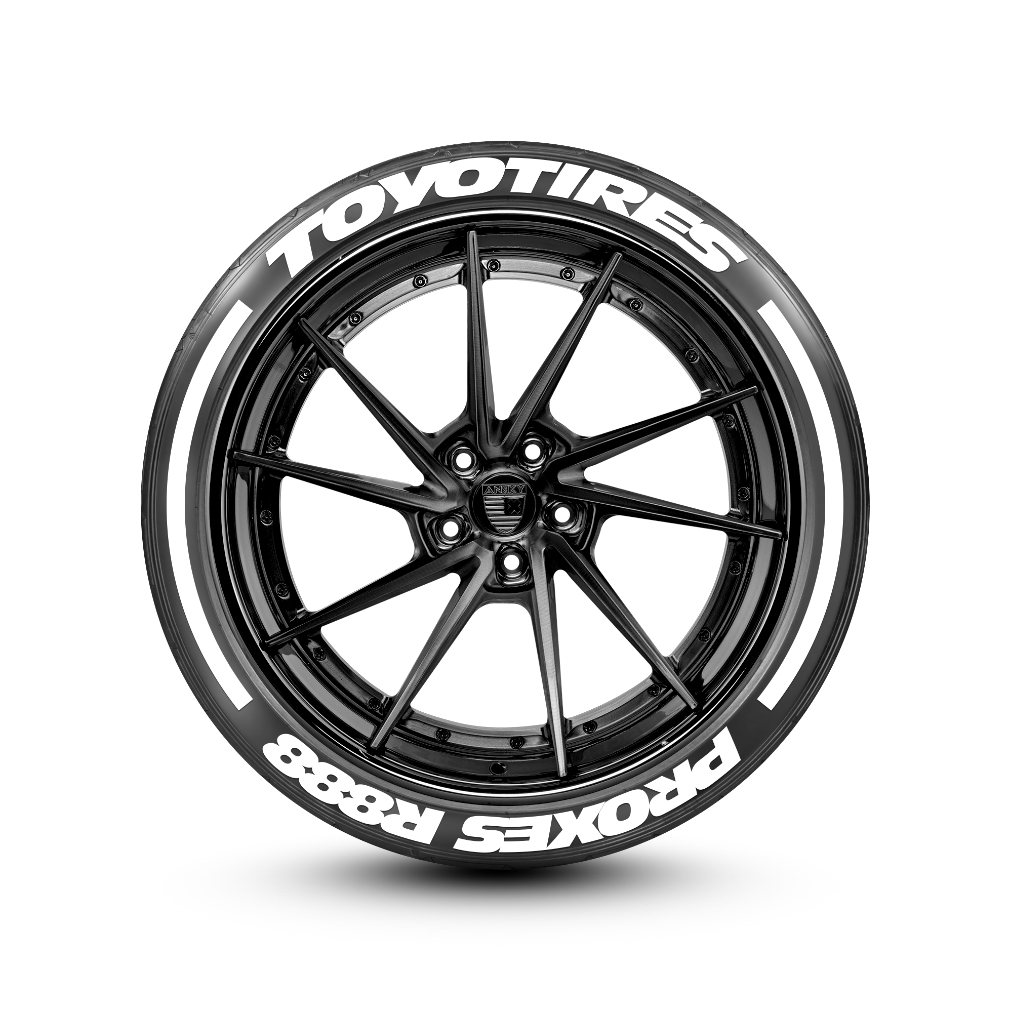 Toyo Tires White Letters >> Toyotires R888 With Racing Stripes Tire Lettering Set Of 8 Tire Decals