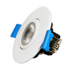 Recessed LED Gimbal Light Round , 2 inch, 120V, Dimmable, 5W, 400 Lm, 80Lm/w, CRI 80, 40° Beam with 30° tilt and 360° rotation, White