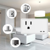 2 PACK Smart Power Socket working with Alexa, Google home, IFTTT, UL Listed, Mini Smart Socket with Schedule & Timer Function, Remote Control Appliances , No Hub Required, 125V, 10A, WIFI 2.4G