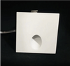 Square LED Asymmetric Wall Light, 1W, 3000K, 60 Lumens, 80CRI,  White Finish