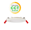 """3"""" Round LED Slim Profile Recessed Downlight, 8W, Colour Adjustable Between 3000K, 4000K and 5000K, 400 Lumens"""