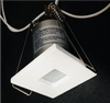 1 Inch Square LED Step Light 1W 27Lumens CRI80 White finish