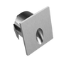 Square LED Asymmetric Wall Light 1W 60Lm 80CRI Brushed Nickel Finish