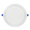 """12""""  Round LED Slim Profile Recessed Downlight, Dimmable, 24W ,3000K, 1500 Lumens, White Finish"""