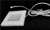 Square Ultra Slim LED Puck Light, Dimmable, 2.2W, 3000K, 150 Lumens, White Finish