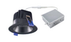 """4"""" Round LED Regressed Downlight, Dimmable, 15W, 3000K, 1100Lumens, Black Finish"""