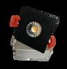 "3"" LED Downlight Recessed Gimbal, 8W, 600 lumens, 3000K, Trim 3"" Square BK"