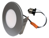 """4"""" 5CCT  Multiple Application Recessed Light for retrofit application onto existing 4"""" recessed housings or 4"""" octagon box, dimmable, 8W, 550Lumens, silver colour trim"""