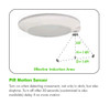 """6"""" LED Closet Lights with PIR Motion Sensor 15W color adjustable between 3000K, 4000K and 5000K  Turns Lights ON/OFF Automatically"""